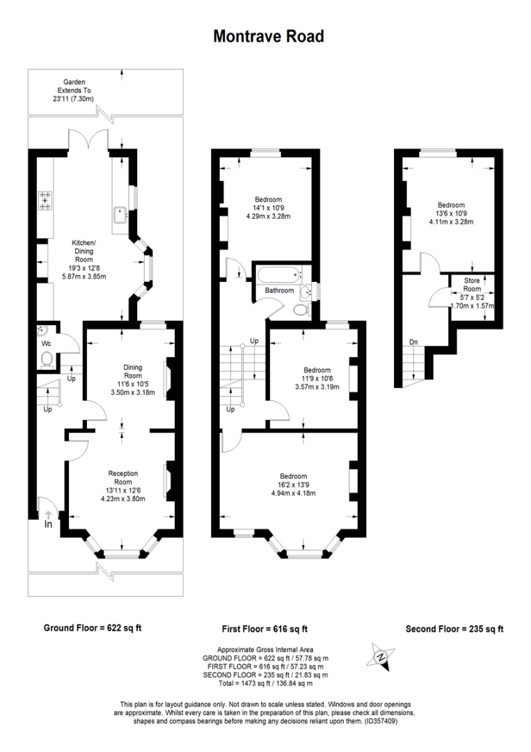 4 bed house to rent in Montrave Road, London - Property Floorplan