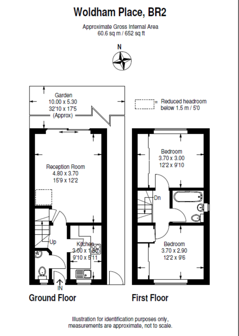 2 bed house to rent in Woldham Place, Bromley - Property Floorplan