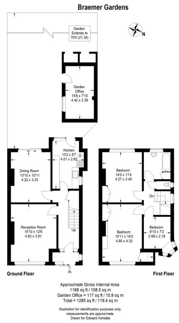 3 bed house to rent in Braemar Gardens - Property Floorplan
