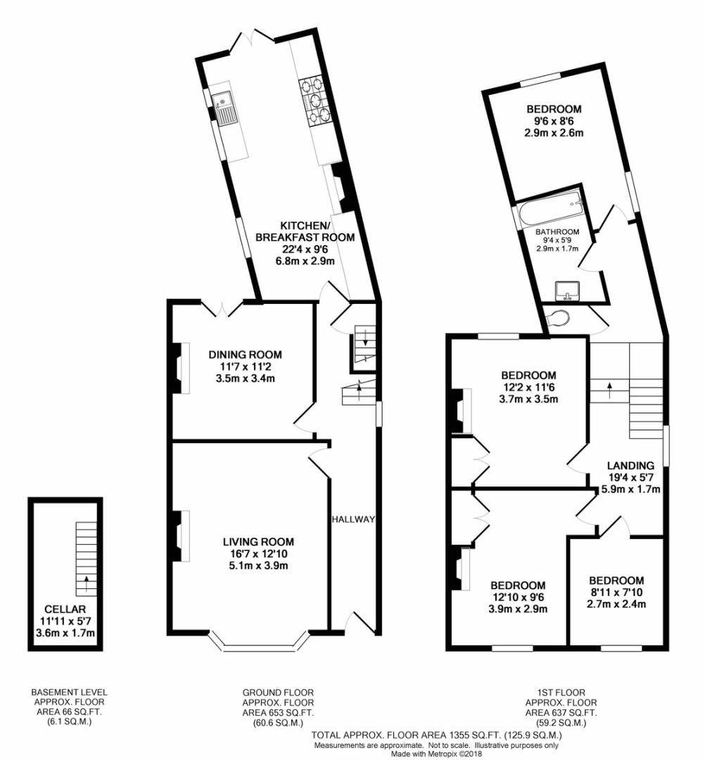 4 bed house to rent in Lampmead Road, London - Property Floorplan
