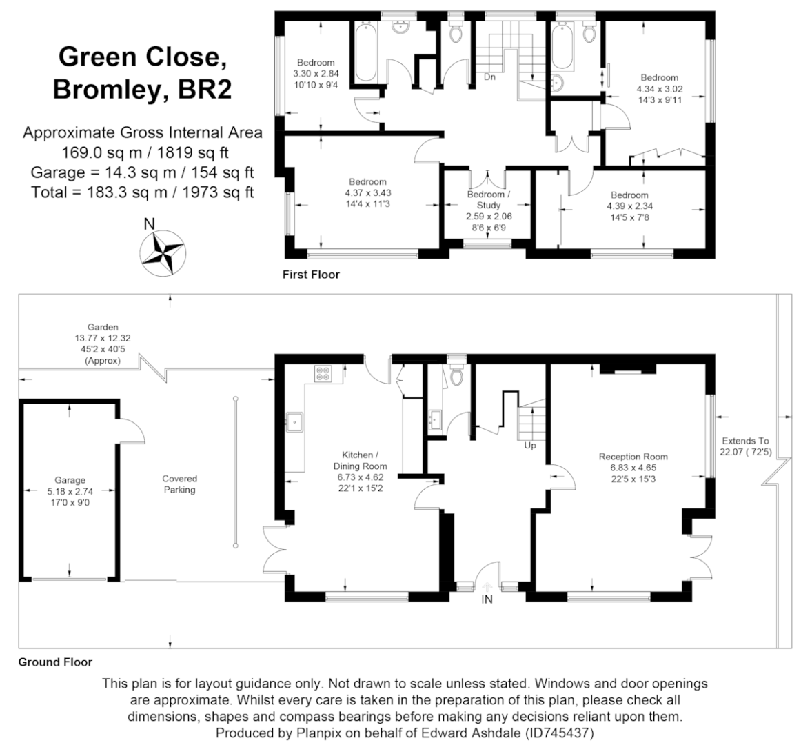 4 bed house for sale in Green Close - Property Floorplan