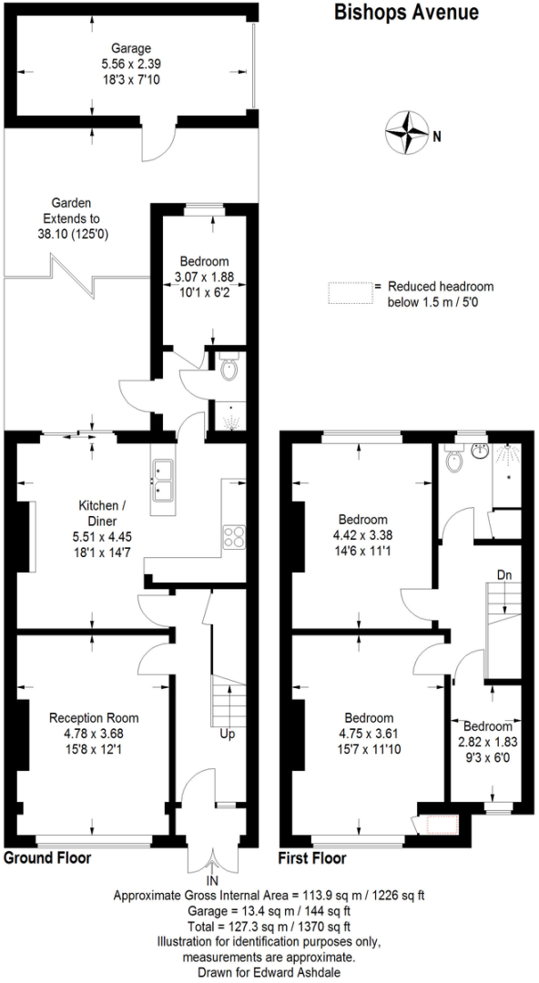 3 bed house for sale in Bishops Avenue, Bromley - Property Floorplan