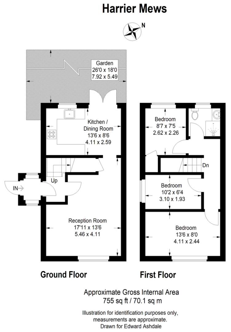 3 bed house for sale in Harrier Mews - Property Floorplan