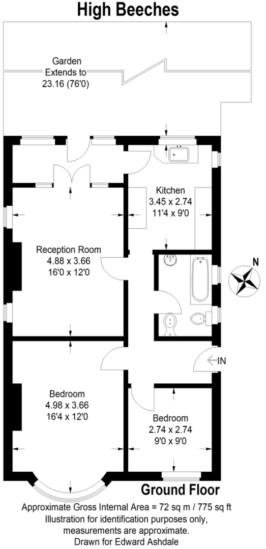 2 bed  for sale in High Beeches, Green St Green - Property Floorplan