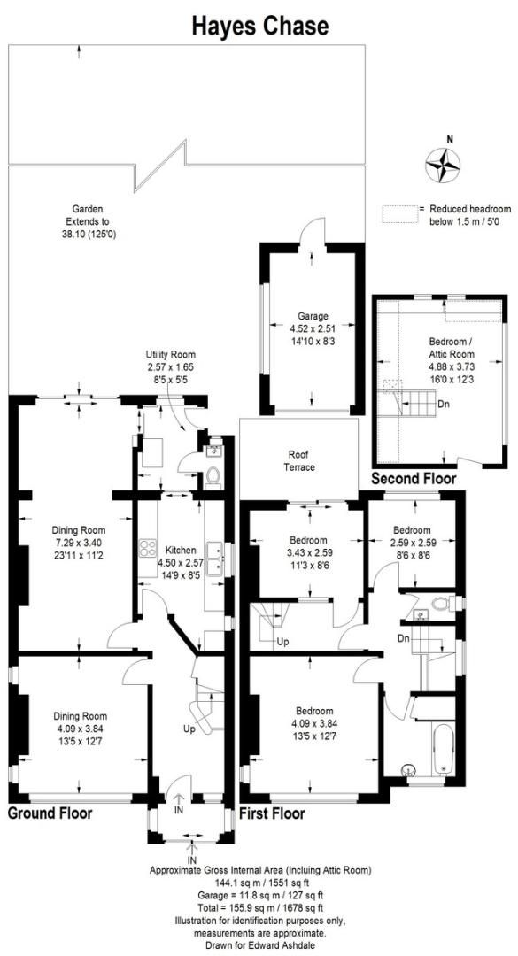 4 bed house for sale in Hayes Chase, West Wickham - Property Floorplan