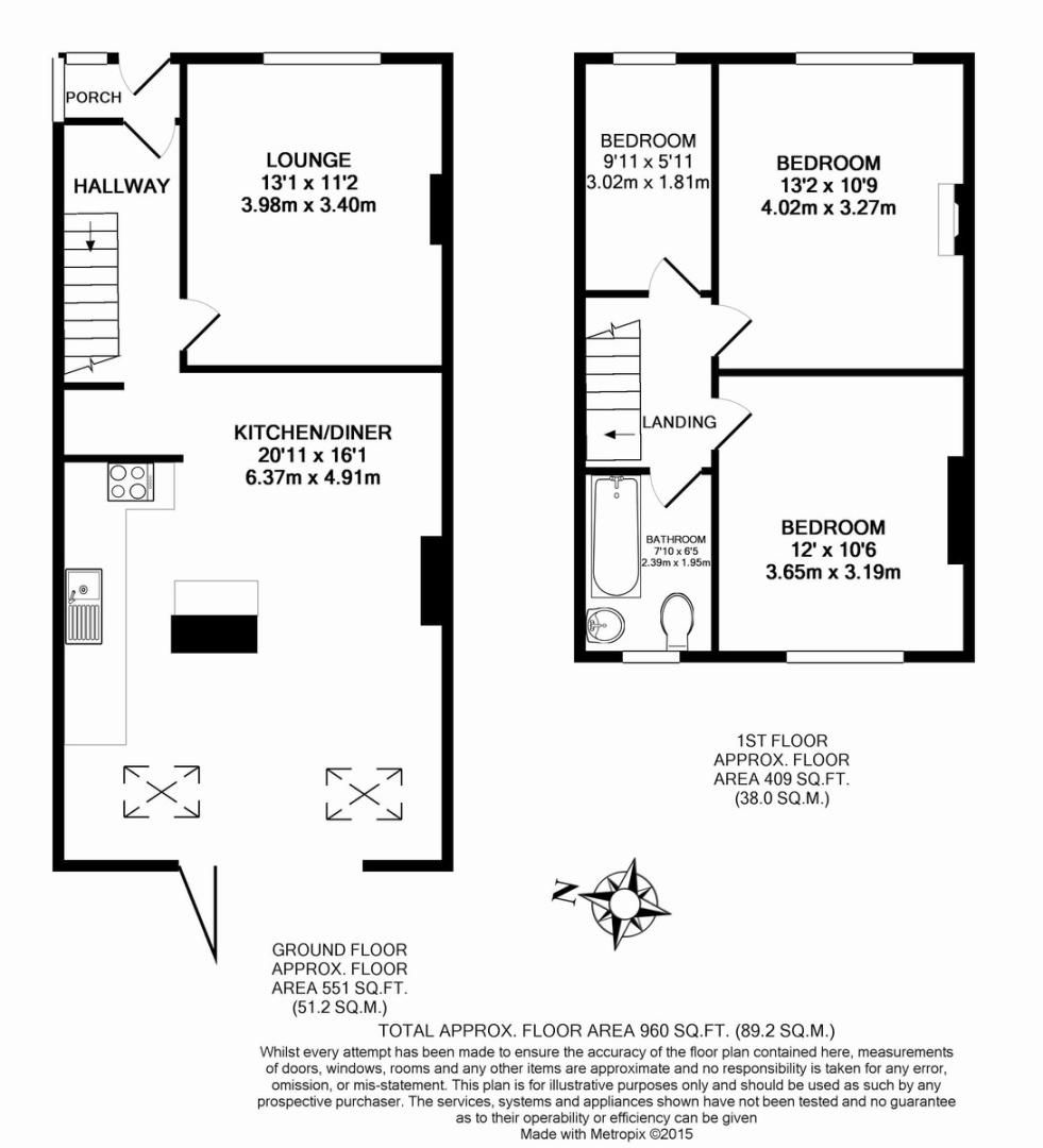 3 bed house for sale in Wimborne Way, Beckenham - Property Floorplan
