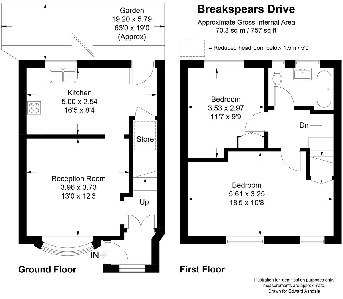 2 bed house for sale in Breakspears Drive, Orpington - Property Floorplan