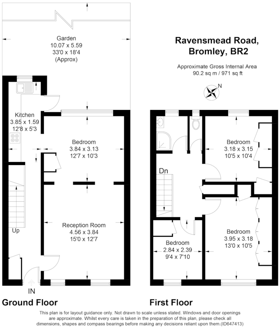 3 bed house for sale in Ravensmead Road, Bromley - Property Floorplan