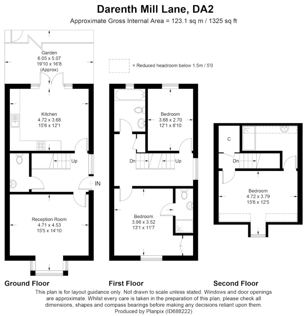 3 bed house for sale in Darenth Mill Lane - Property Floorplan