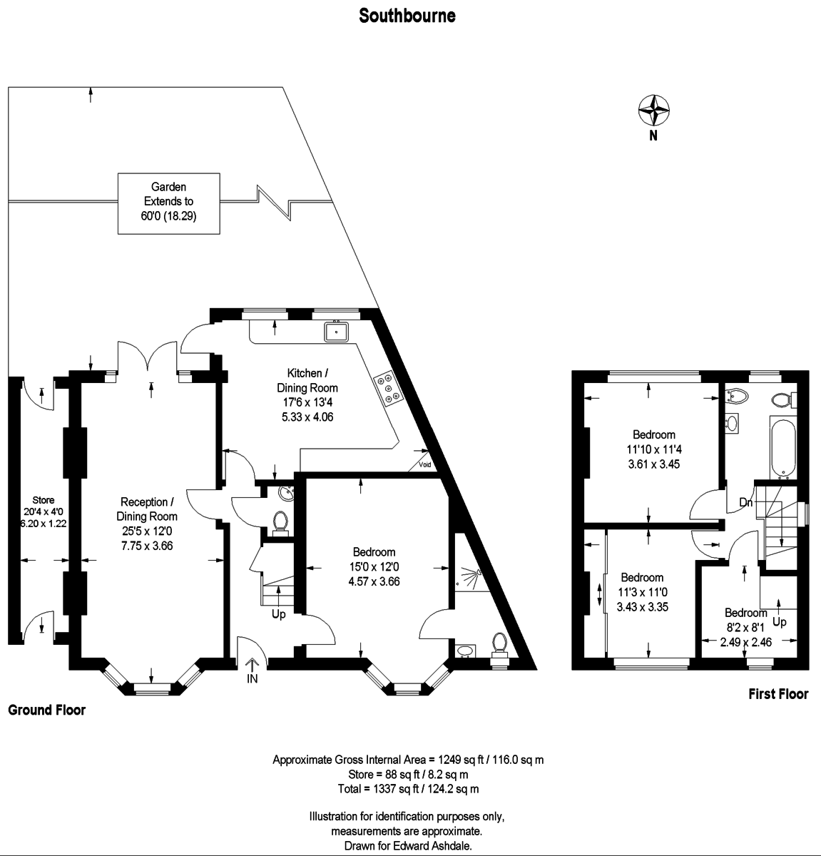 4 bed house for sale in Southbourne, Bromley - Property Floorplan