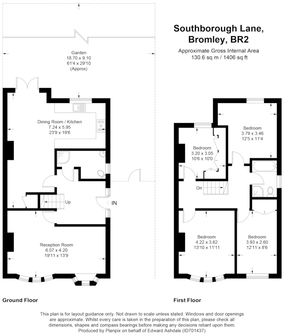 4 bed house to rent in Southborough Lane, Petts Wood - Property Floorplan