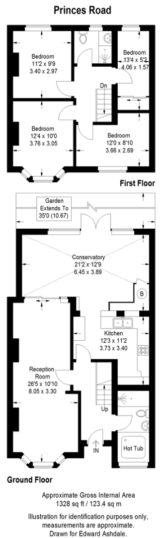 4 bed house for sale in Princes Road, Dartford - Property Floorplan