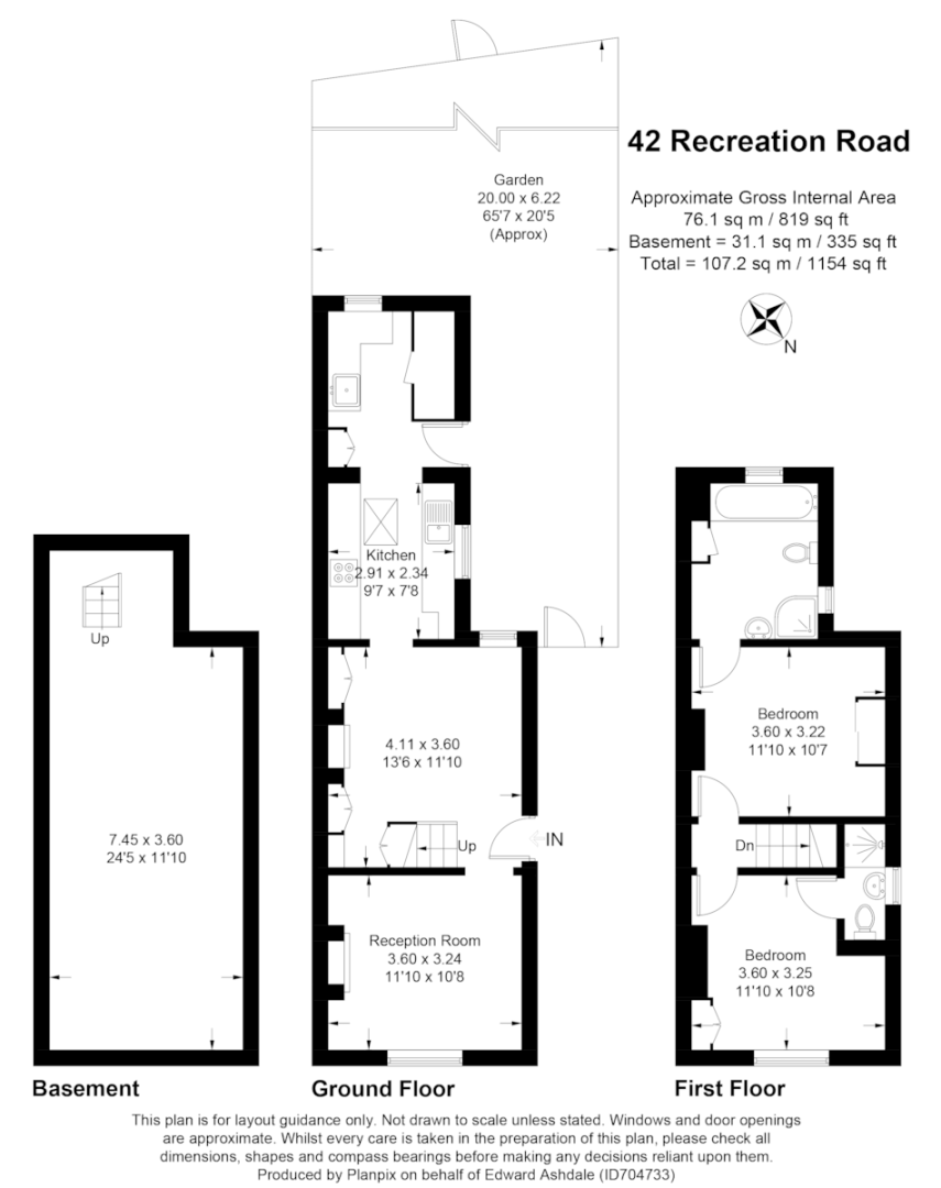 2 bed house for sale in Recreation Road, Shortlands - Property Floorplan