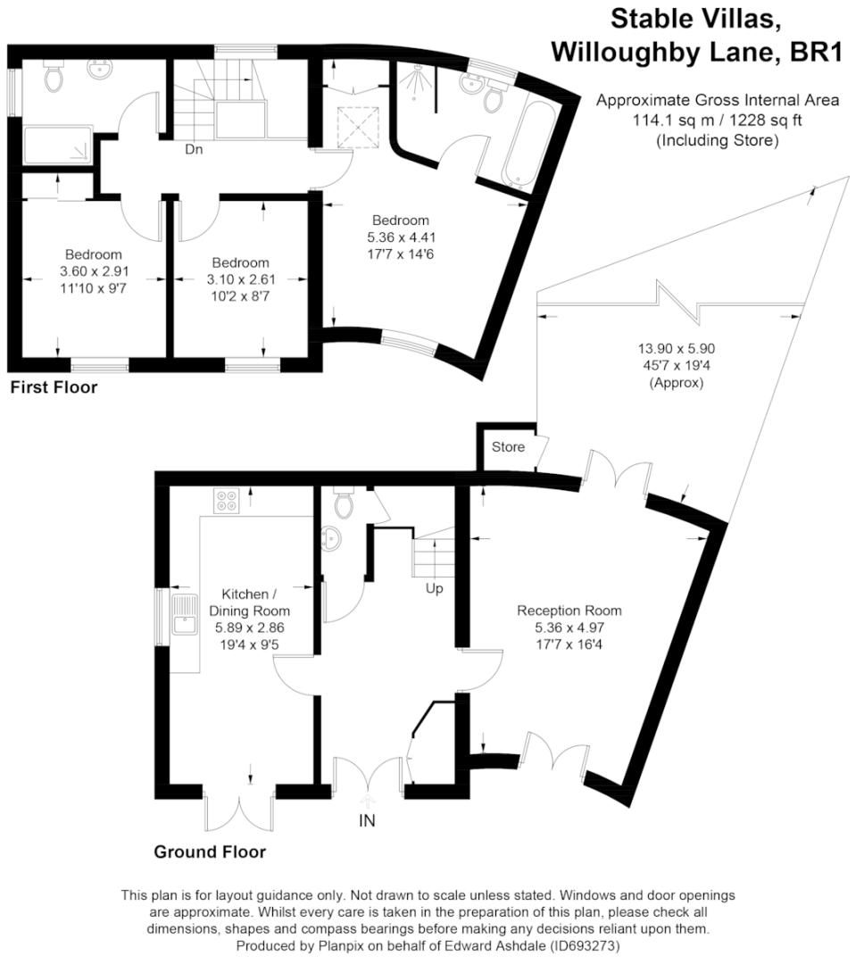3 bed house for sale in Sundridge Park Golf Club - Property Floorplan