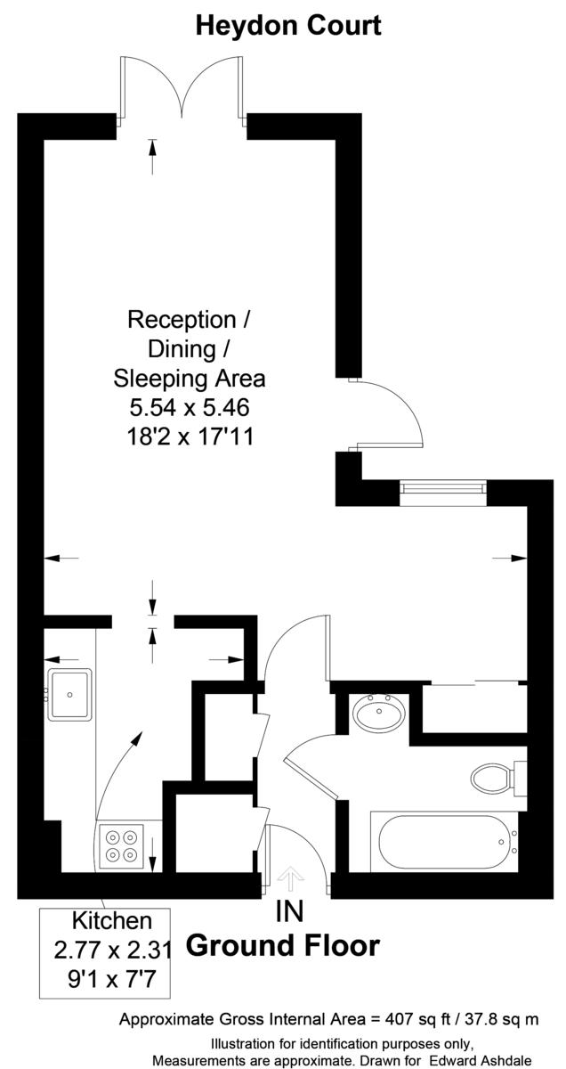 Flat for sale in Deer Park Way, West Wickham - Property Floorplan
