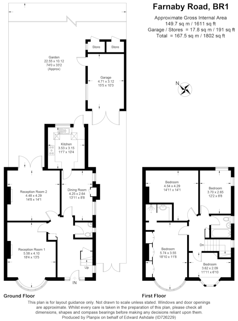 4 bed house for sale in Farnaby Road, Bromley - Property Floorplan