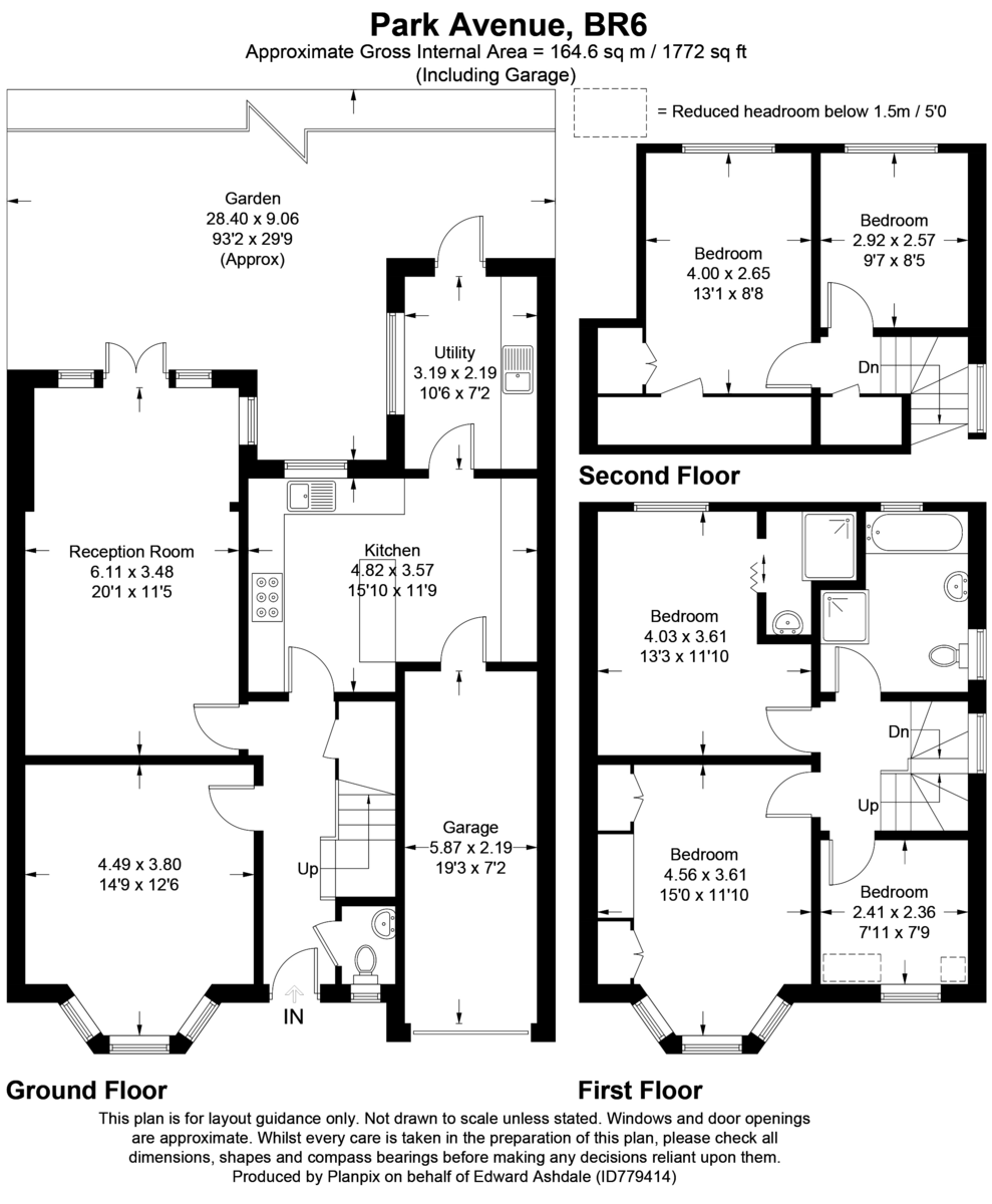5 bed house for sale in Park Avenue - Property Floorplan