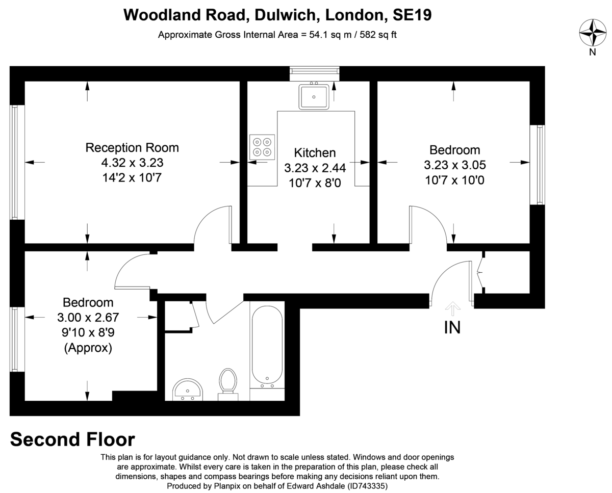 2 bed flat to rent in Woodland Road, Gipsy Hill, London - Property Floorplan