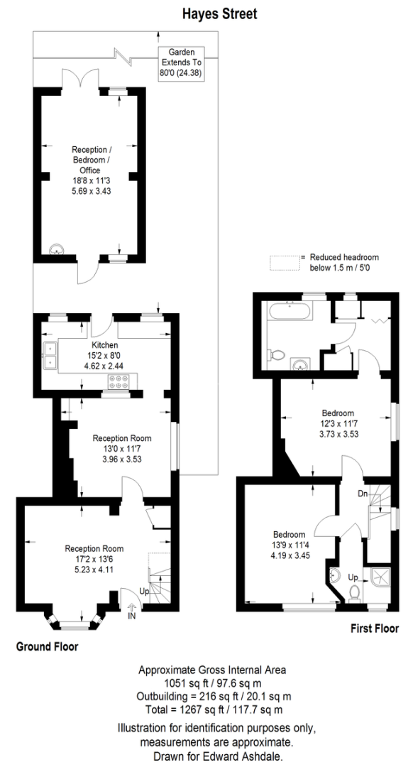 2 bed house for sale in Hayes Street, Bromley - Property Floorplan