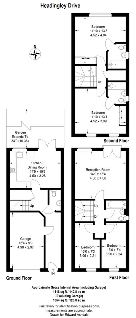 4 bed house for sale in Headingley Drive, Beckenham - Property Floorplan