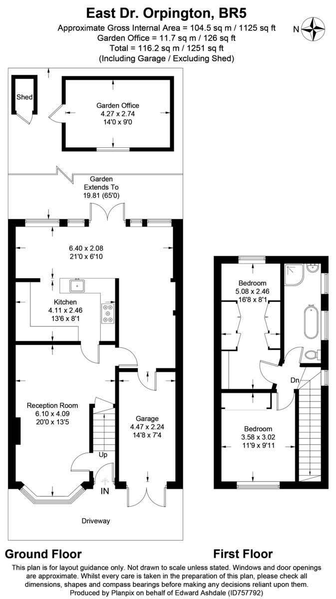 2 bed house for sale in East Drive, Orpington - Property Floorplan