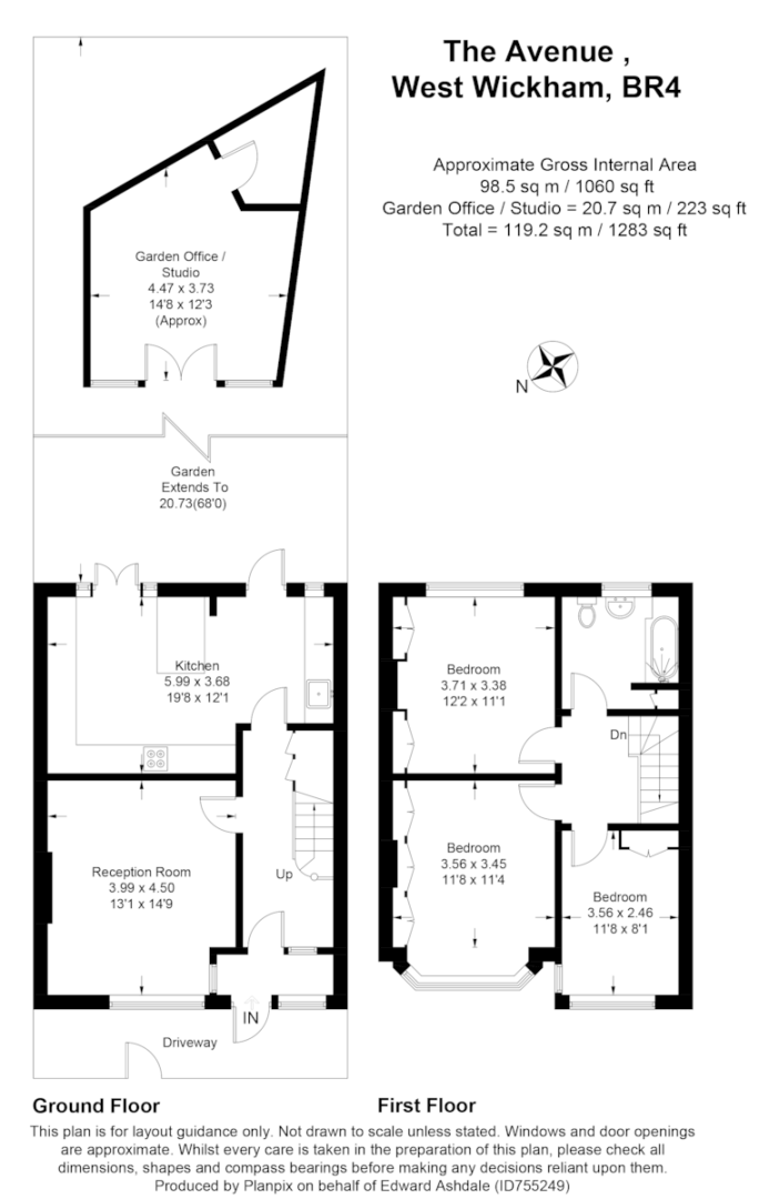 3 bed house for sale in The Avenue, West Wickham - Property Floorplan