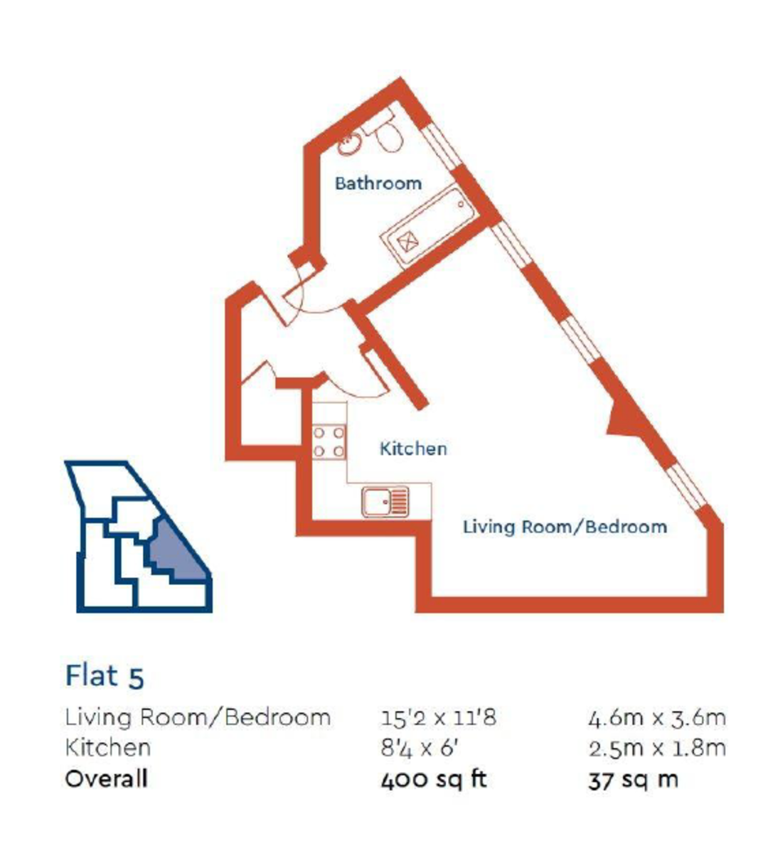 1 bed flat to rent in South Street Studios, Bromley - Property Floorplan