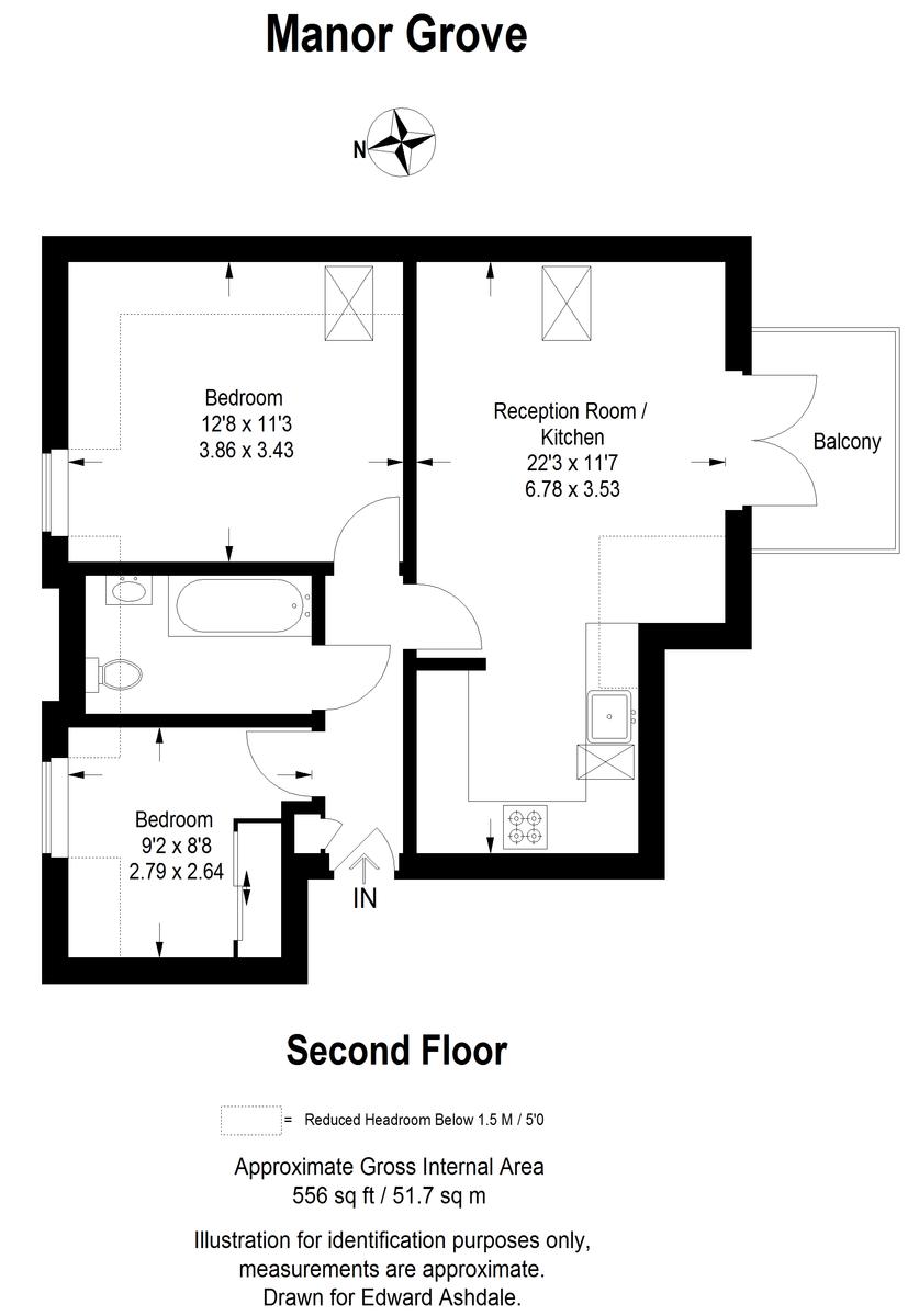 2 bed flat to rent in Manor Grove, Beckenham - Property Floorplan