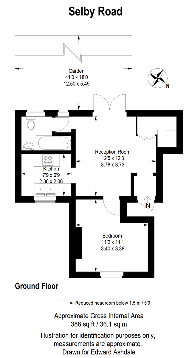 1 bed flat to rent in Selby Road, London - Property Floorplan
