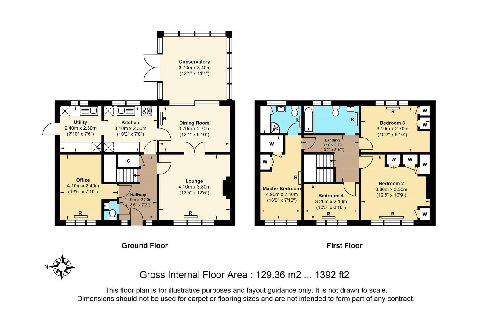 4 bed house for sale in Parsonsfield Road - Property Floorplan