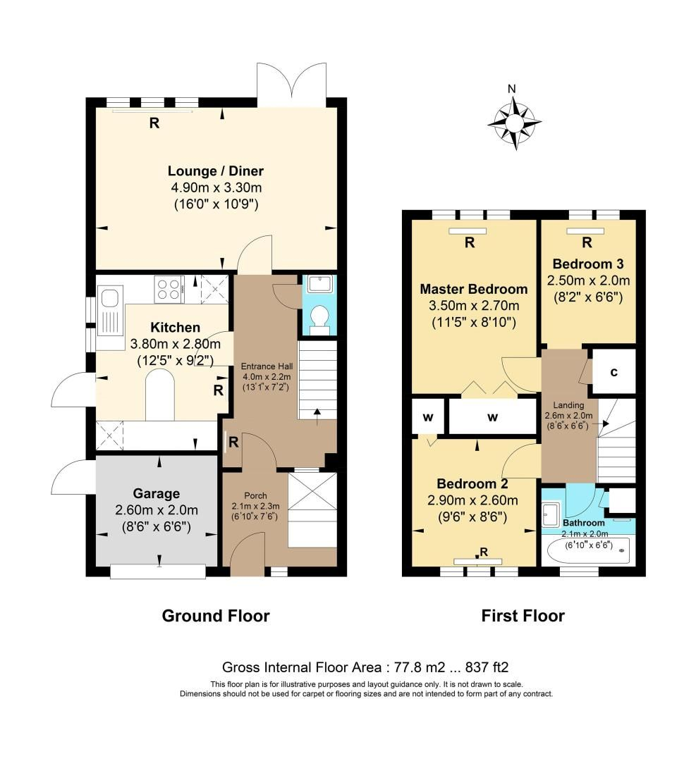 3 bed house for sale in Diceland Road - Property Floorplan