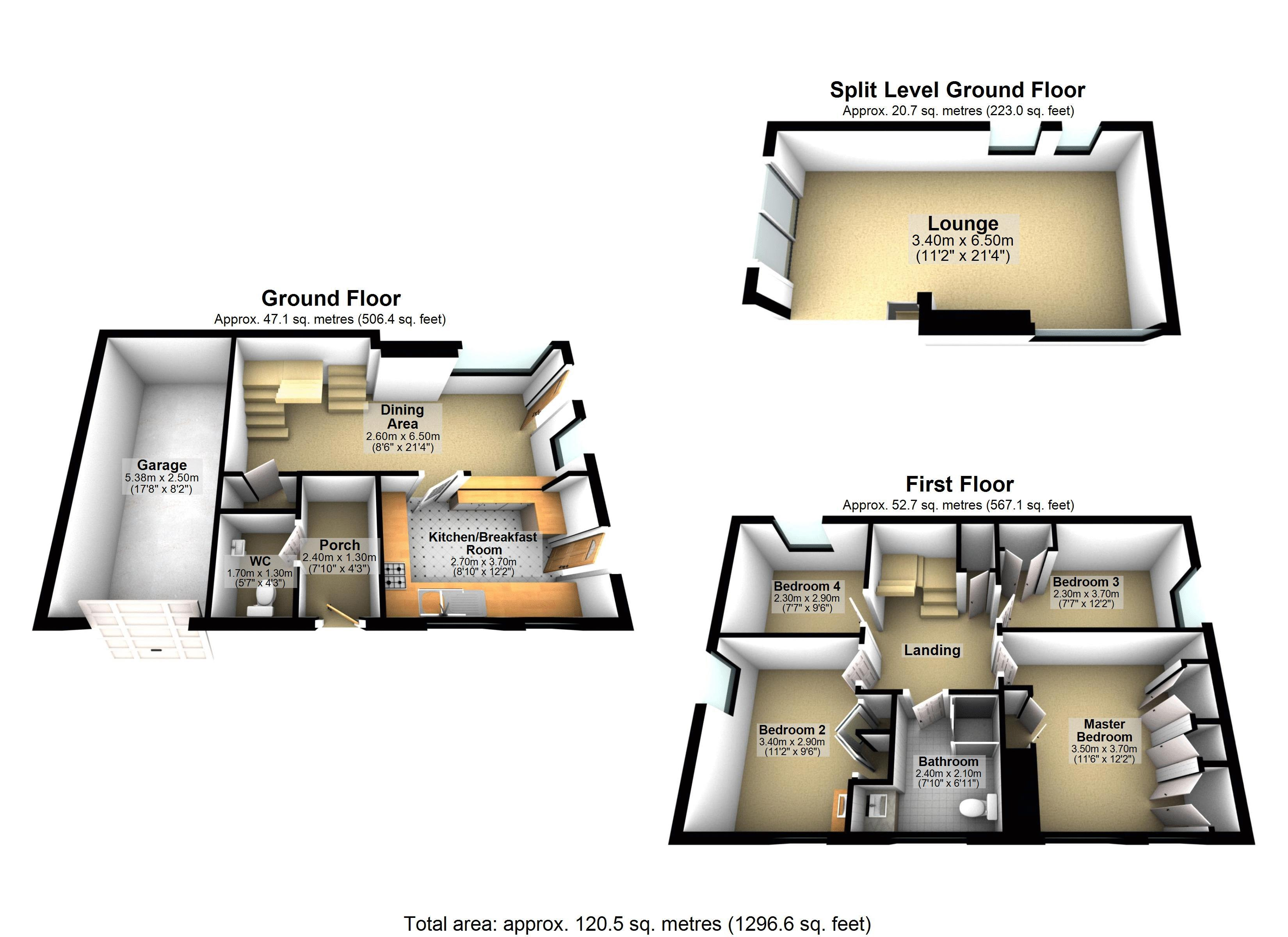 4 bed house for sale in Frensham Way - Property Floorplan