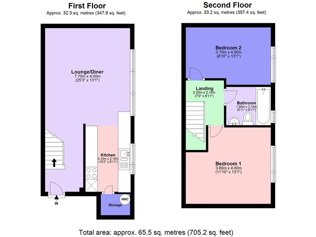 2 bed flat to rent in St. Georges Road - Property Floorplan