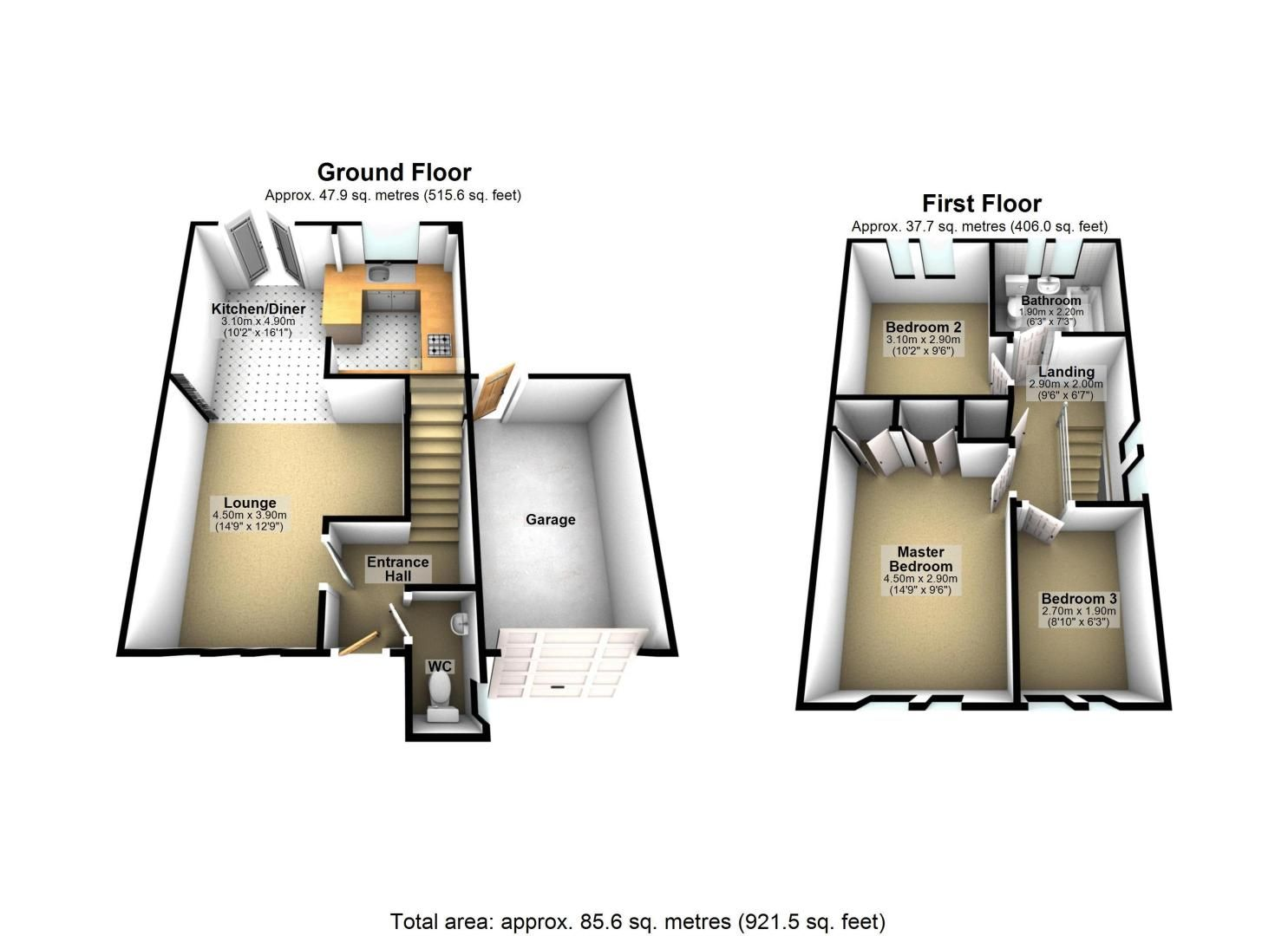 3 bed house for sale in The Driftway - Property Floorplan