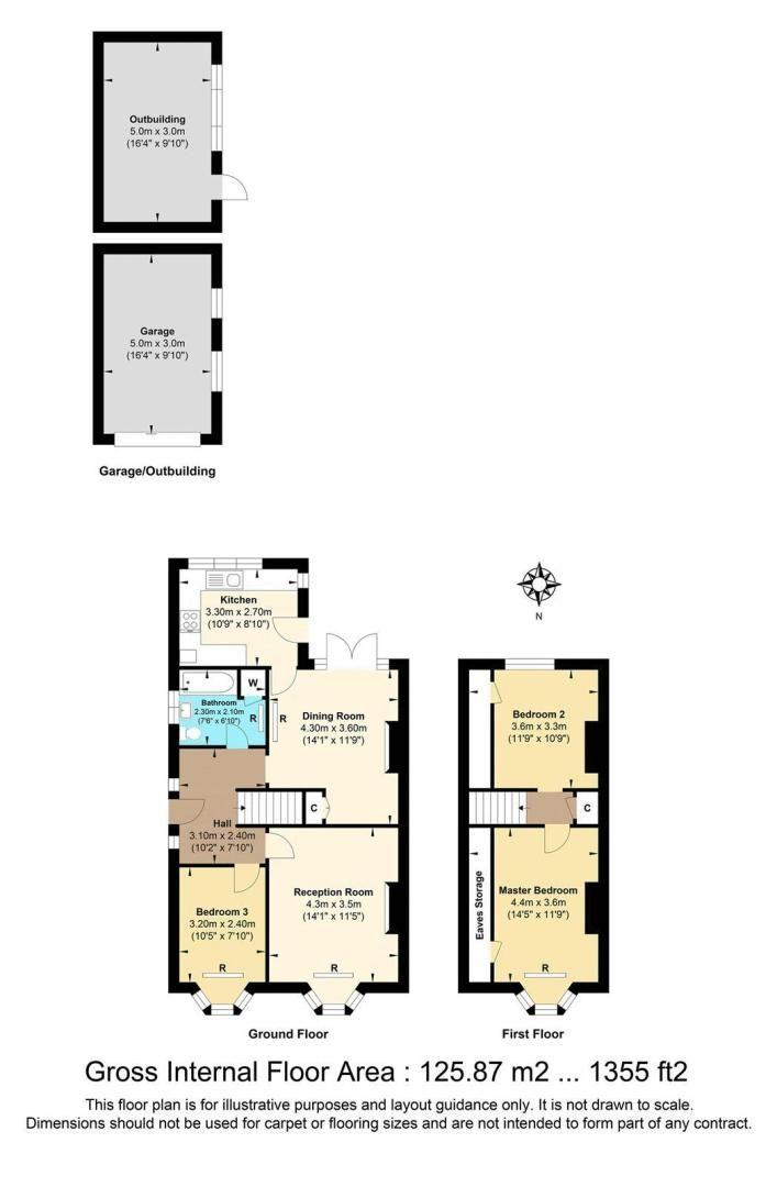 3 bed house for sale in Warren Road - Property Floorplan