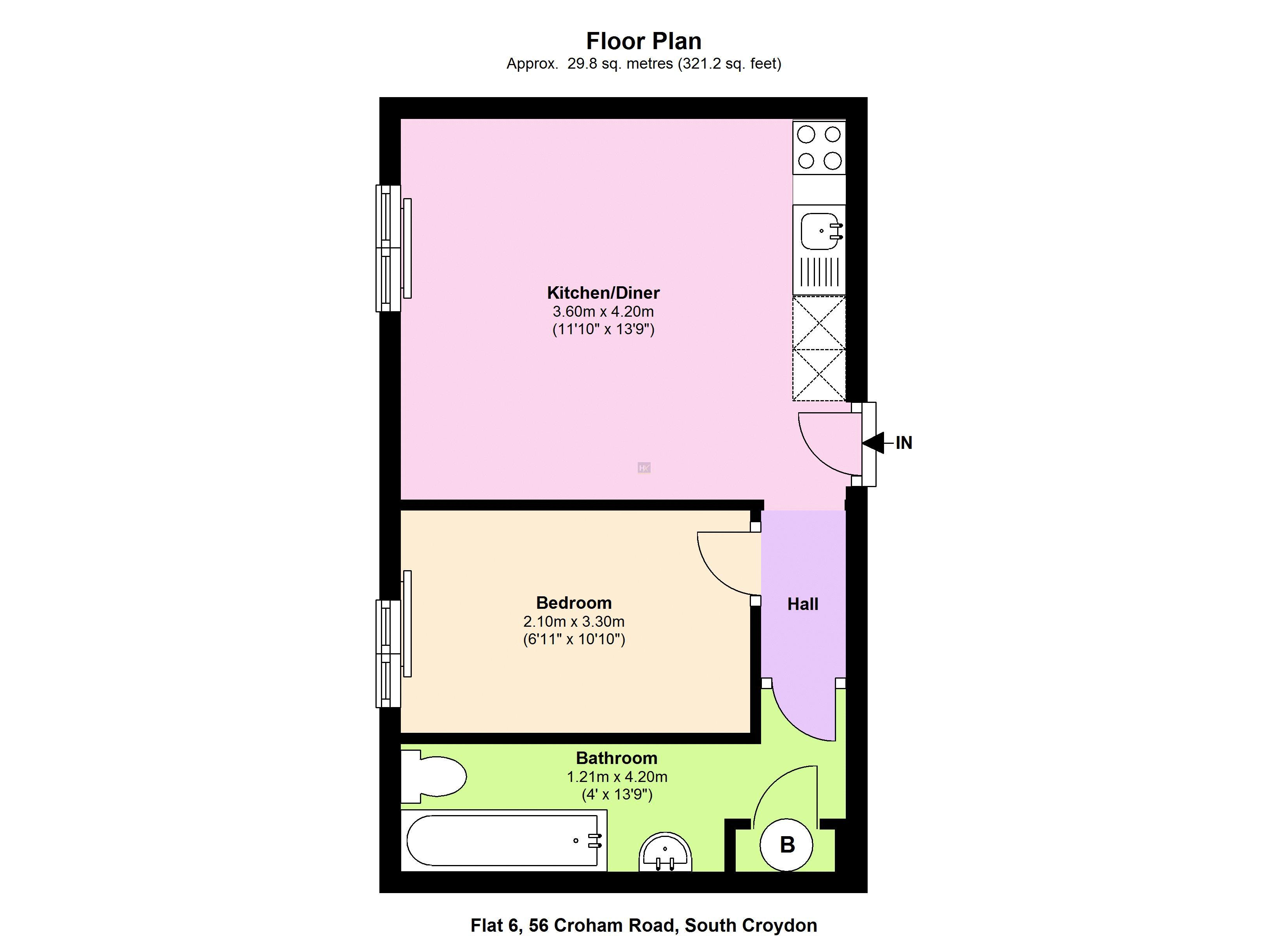 1 bed flat for sale in Croham Road - Property Floorplan