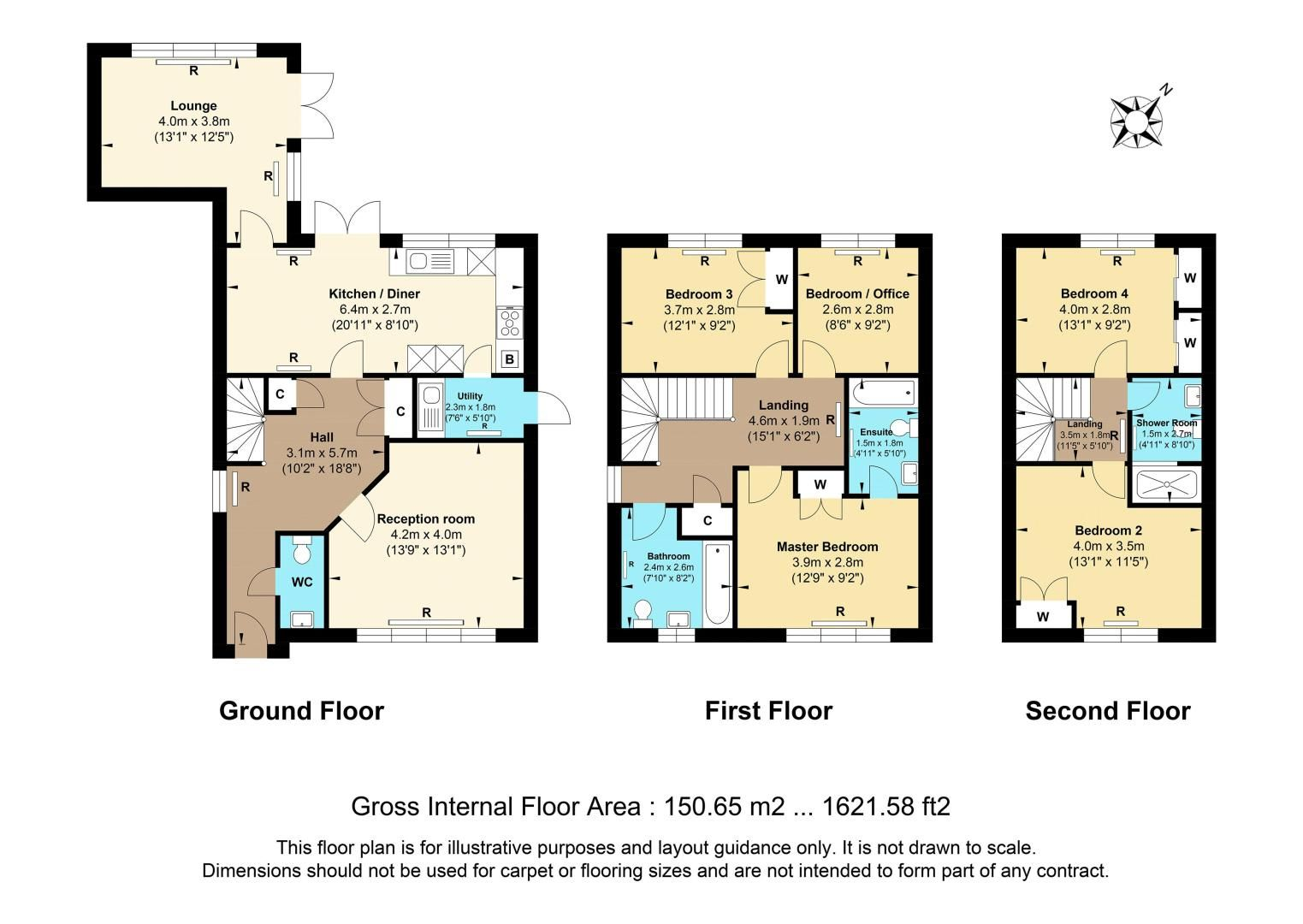 5 bed house for sale in Ash Close - Property Floorplan