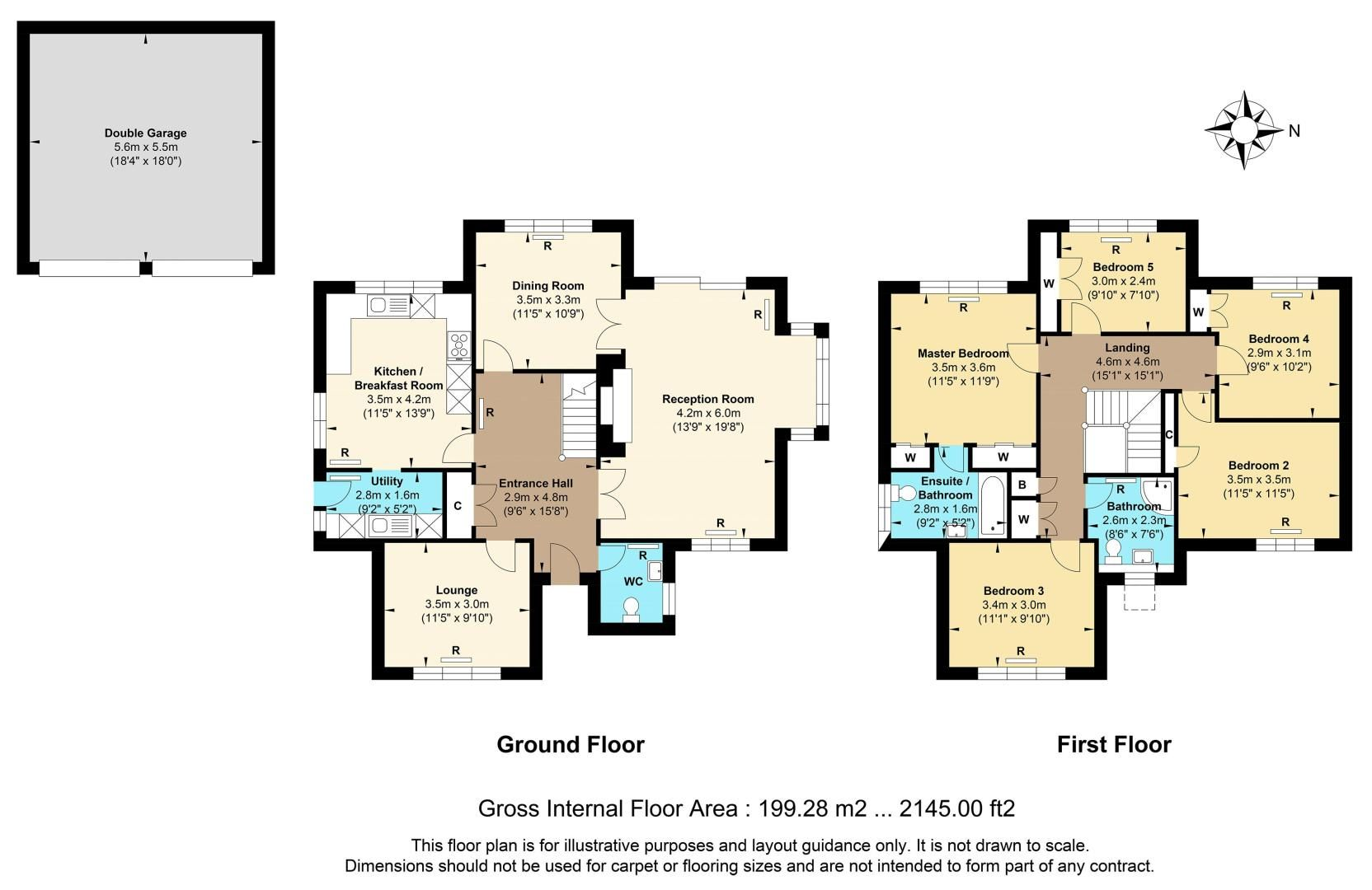 5 bed house for sale in The Lye - Property Floorplan
