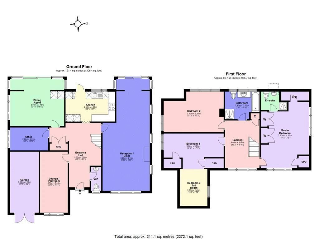3 bed house for sale in West Way - Property Floorplan