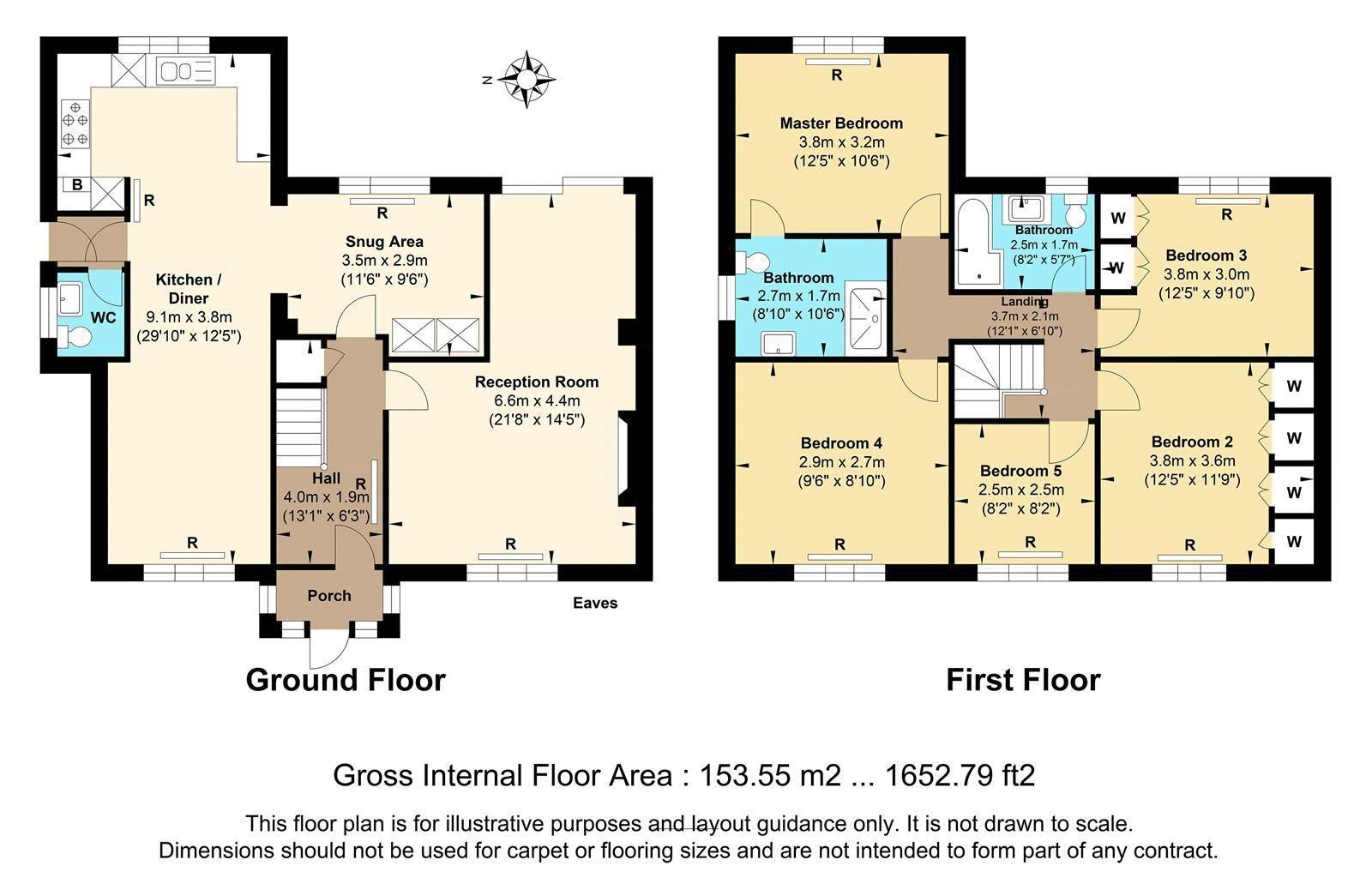 5 bed house for sale in Hillside - Property Floorplan