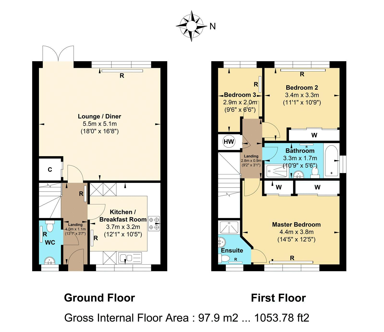 3 bed house for sale in Acer Close - Property Floorplan