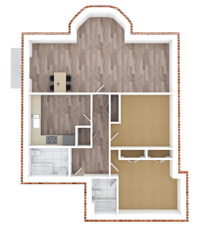 2 bed flat to rent in Horton Crescent - Property Floorplan