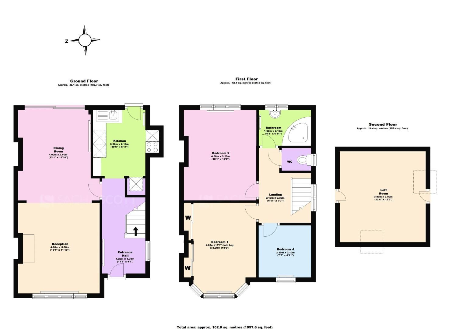3 bed house for sale in Deans Road - Property Floorplan