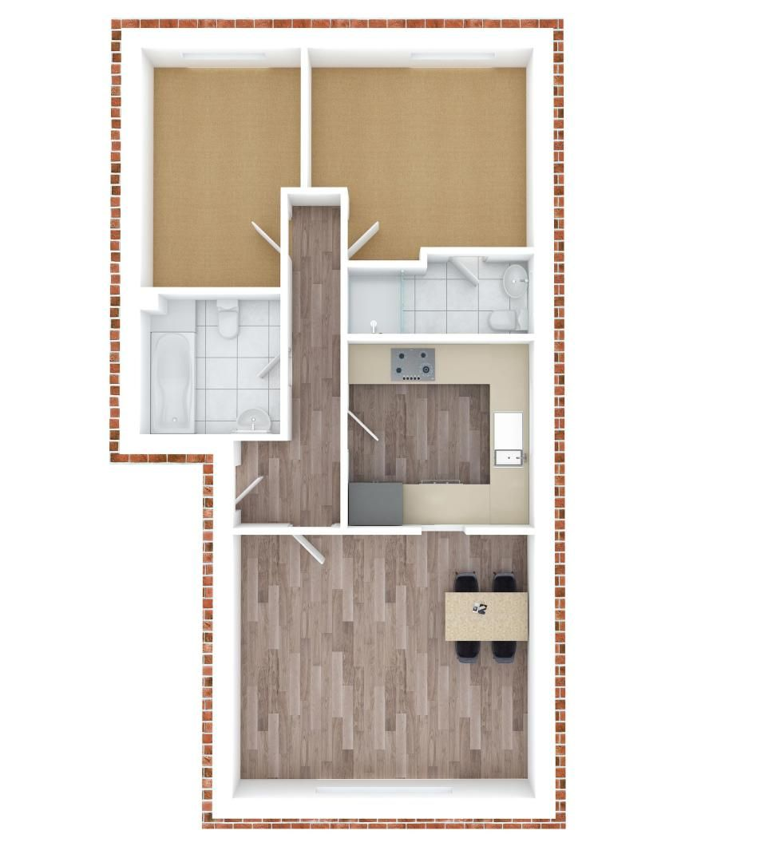 2 bed flat to rent in Brighton Road - Property Floorplan