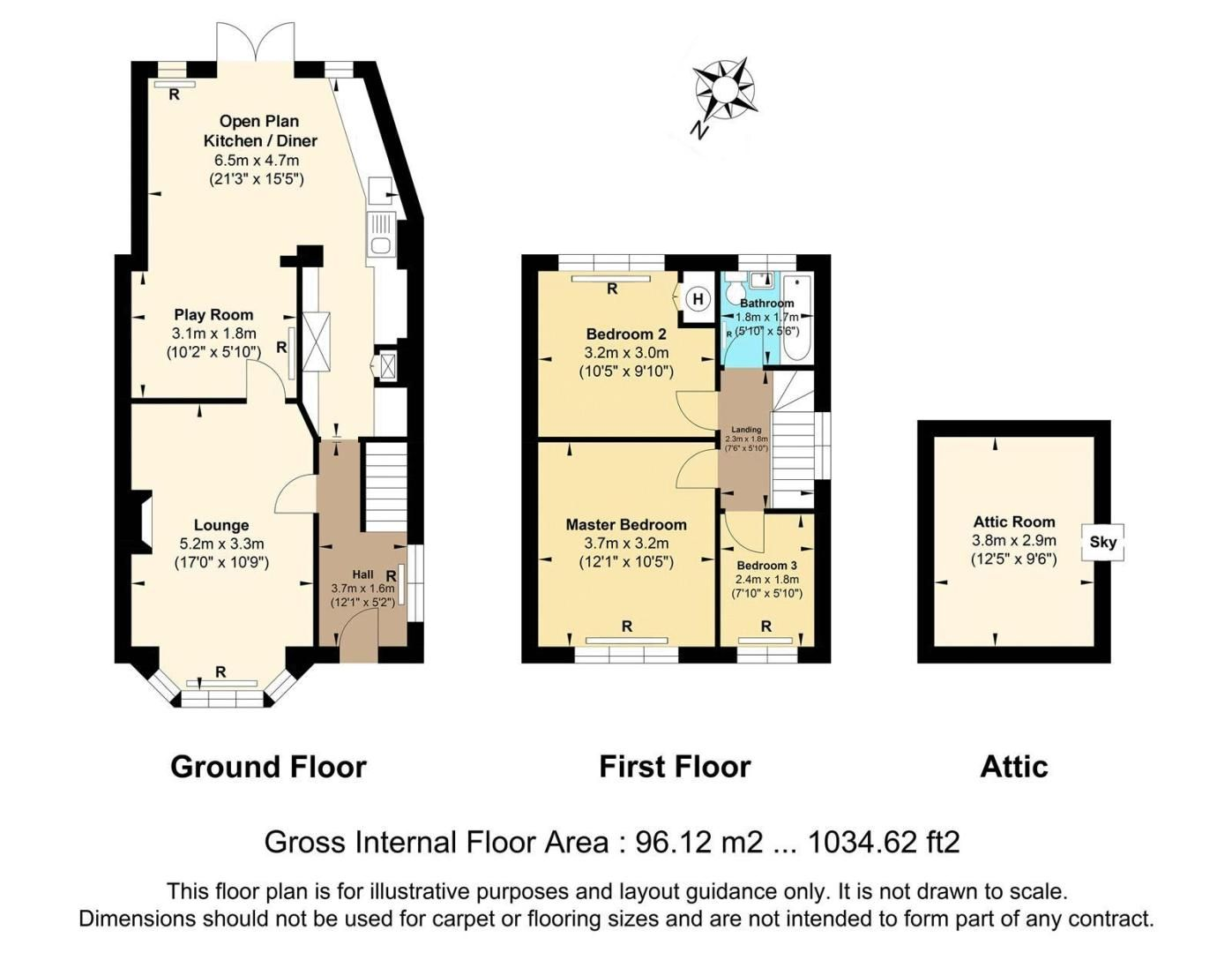 3 bed house for sale in Cock Lane - Property Floorplan