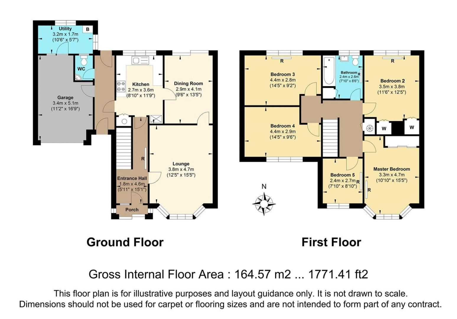 5 bed house for sale in Chetwode Drive - Property Floorplan