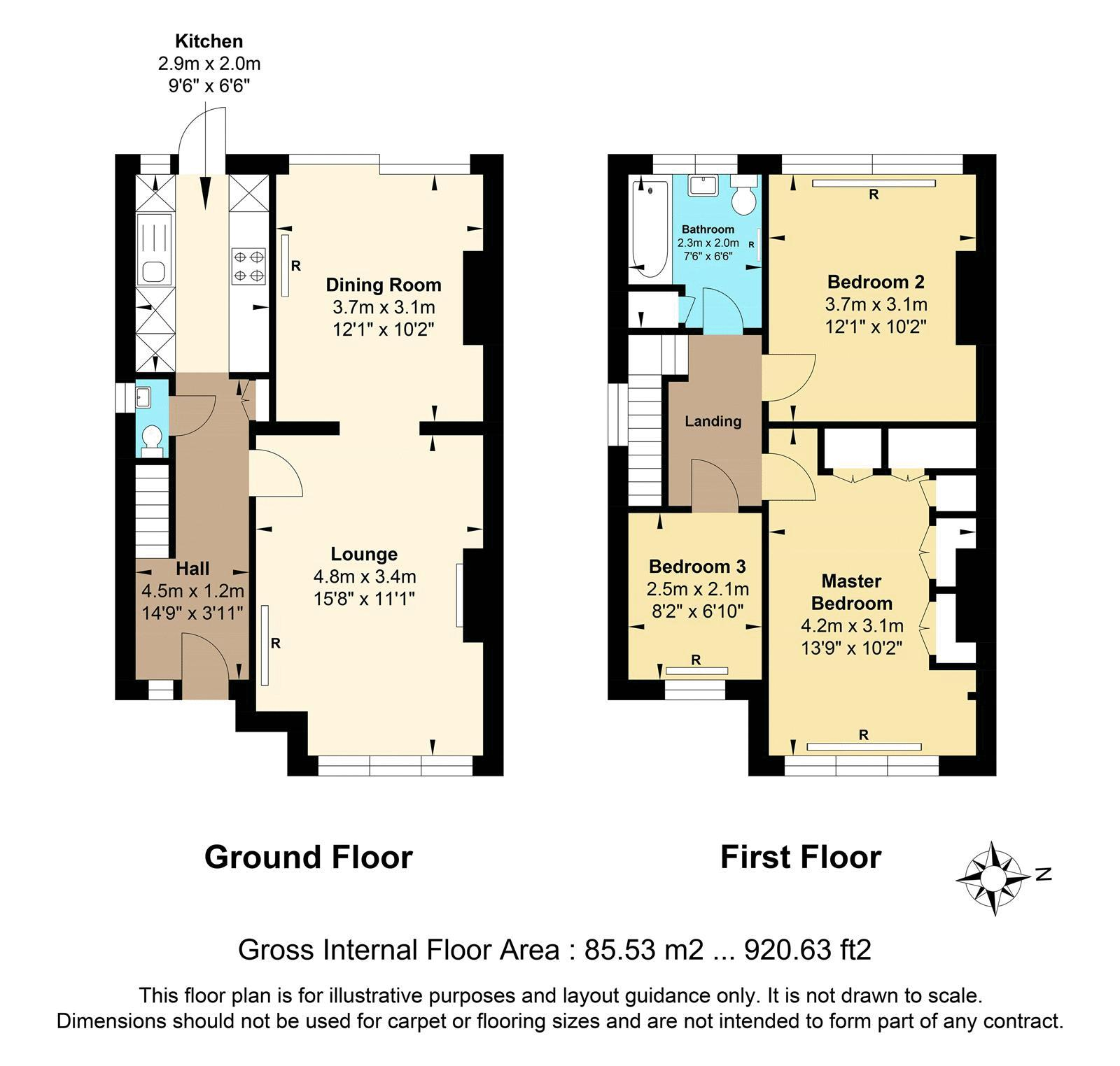 3 bed house for sale in Green Lanes - Property Floorplan