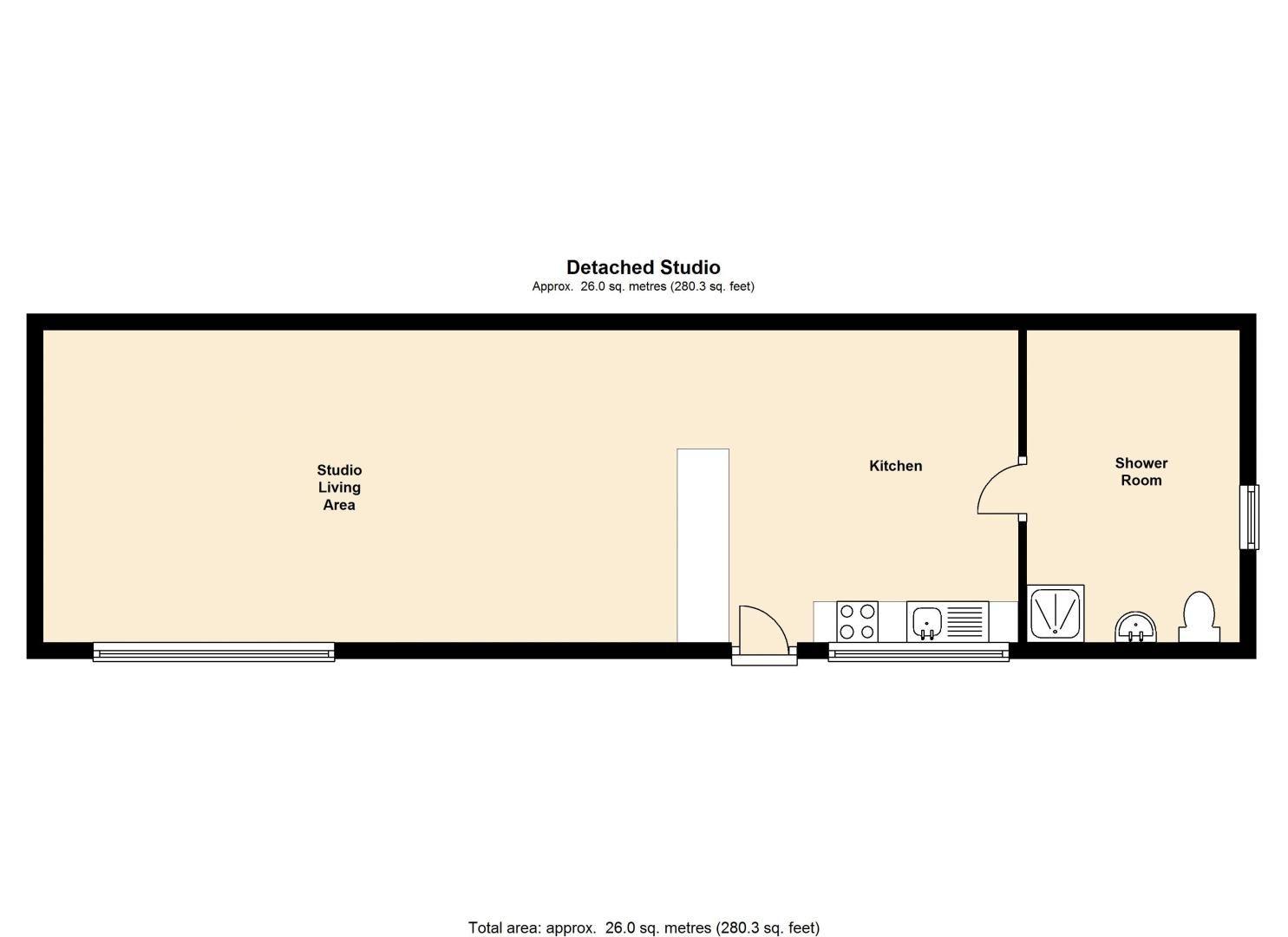 1 bed  to rent in Green Lane - Property Floorplan