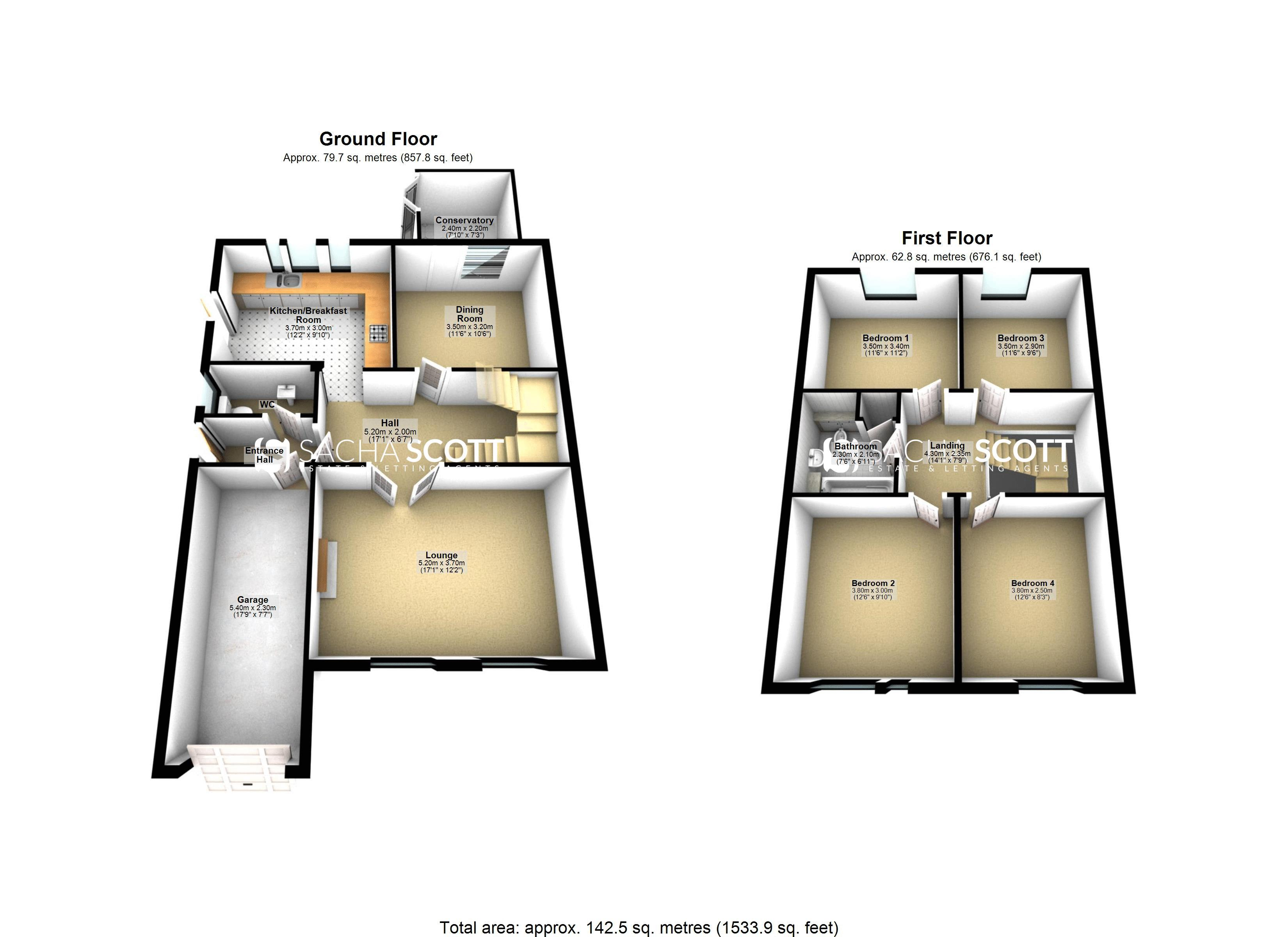 4 bed house for sale in High Beeches - Property Floorplan