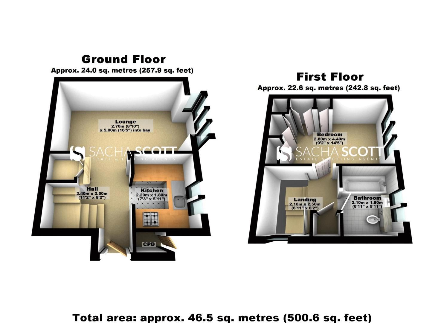 1 bed house for sale in Lambert Road - Property Floorplan